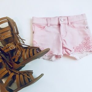 Other - Pink Shorts with lace detail